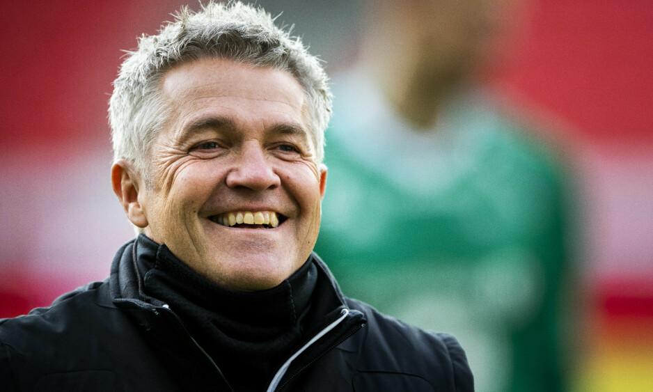 NY JOBB: Kåre Ingebrigtsen gleder seg til å ta fatt på trenerjobben i KV Oostende. Klubben spiller i den belgiske toppdivisjonen. Den tidligere Rosenborg-bossen starter 1. juni. Foto: NTB ScanpixFoto: Ole Martin Wold / NTB scanpix