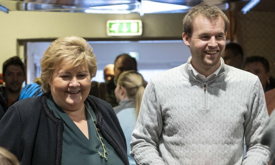 HASTVERK: Organisasjonsnorge fikk tre og en halv dags frist for å melde seg på høring om endringer i abortloven – det finnes navlestrenger som er lengre enn den fristen, skriver innsenderne. Her er Erna Solberg og hennes nye regjeringspartner KrF-leder Kjell Ingolf Ropstad. Foto: NTB Scanpix