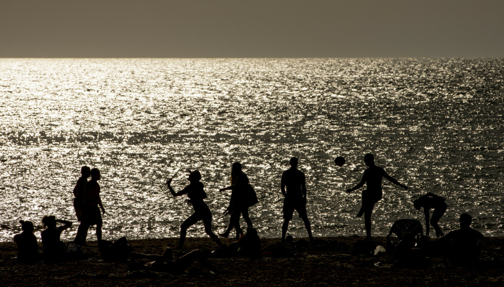 IDYLL: Strandliv og Middelhavet i Tel Aviv. Foto: Foto: Christian Roth Christensen / Dagbladet