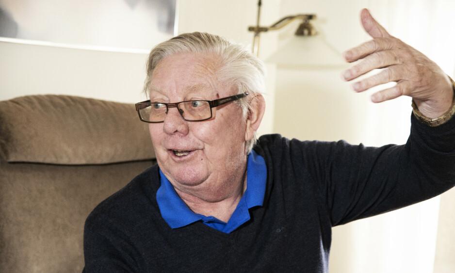 ROSENBORG-LEGENDE: Nils Arne Eggen var trener for Rosenborg i mange år. Klubben hadde heidundrende suksess. I neste måned blir Eggen hedret med statue. Dette bildet er fra i fjor. Foto: Hans Arne Vedlog