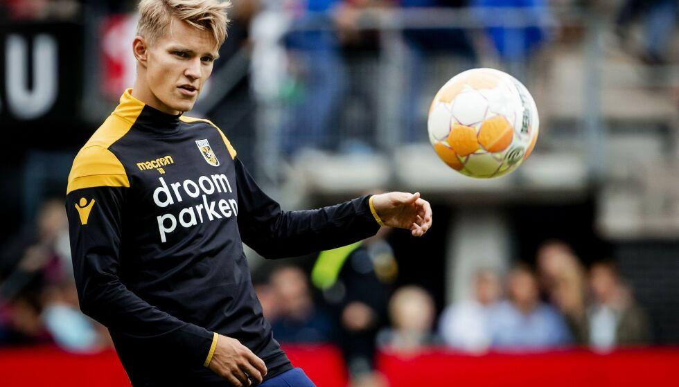 STORSPILTE: Martin Ødegaard storspilte i sesongavslutningen i Nederland da Vitesse slo VVV-Venlo borte. Foto: ROBIN VAN LONKHUIJSEN/ANP/AFP / NTB scanpix