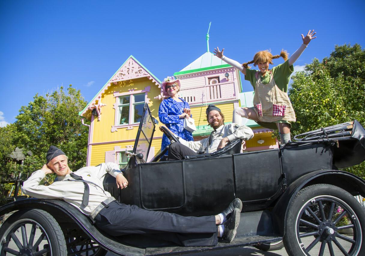 VILLEKULLA: Det originale huset til Pippi Langstrømpe fra SVTs gamle filmer om Astrid Lindgrens barnehelt ligger i familieparken Kneippbyn. Hele sommersesongen er det Pippi-teater i familieparken.