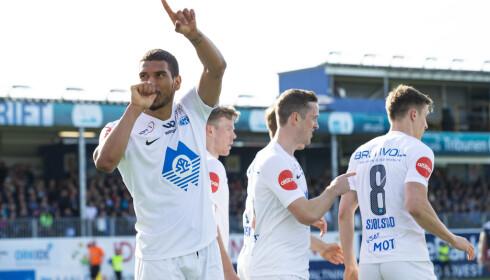 SNUOPERASJON: Kristiansund snudde 0-2 til 3-2 hjemme mot Molde. Foto: Svein Ove Ekornesvåg / NTB scanpix