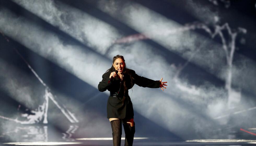 RUNDE TO: Det er klart for andre semifinale i «Eurovision». Srbuk fra Armenia kjemper om en plass i finalen i Tel Aviv lørdag. Foto: REUTERS/Ronen Zvulun