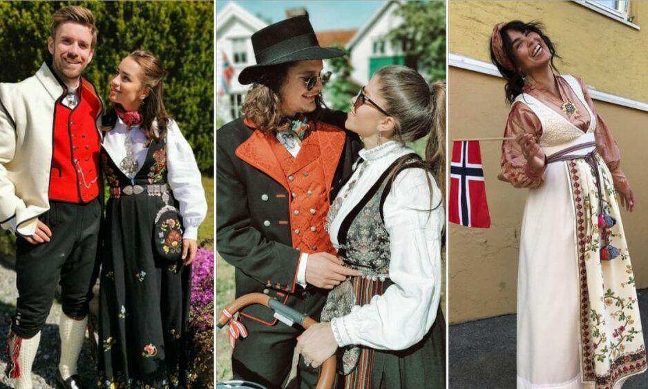 17. MAI: Kjendiser landet over feirer Norges nasjonaldag med store smil og sine flotteste antrekk. Foto: Skjermdump, Instagram