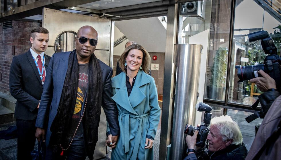 AVLYSER PRESSEKONFERANSE: Prinsesse Märtha Louise og Durek Verrett vil likevel ikke møte pressen søndag. Foto: Bjørn Langsem.