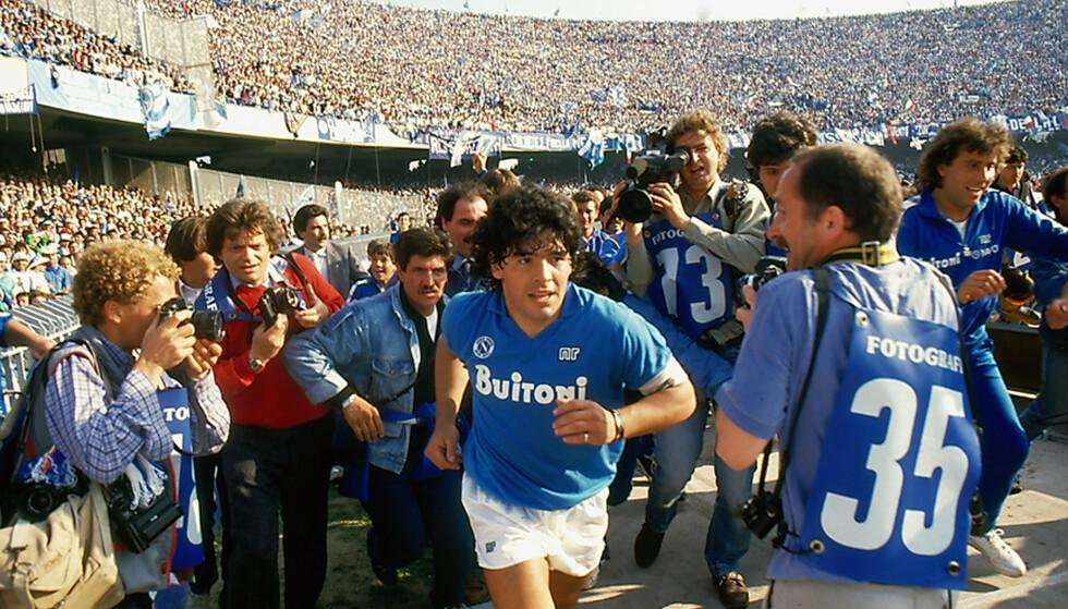 NÆRGÅENDE: Dokumentaren «Diego Maradona» følger fotballegenden gjennom suksess, nederlag og stoffmisbruk, og spør om hvorfor det gikk som det gikk. Foto: NTB Scanpix