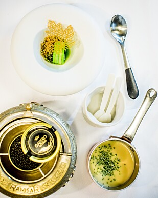 KAVIAR OG GÅSELEVER: De sparer ikke på noe på restaurant À L'aise.