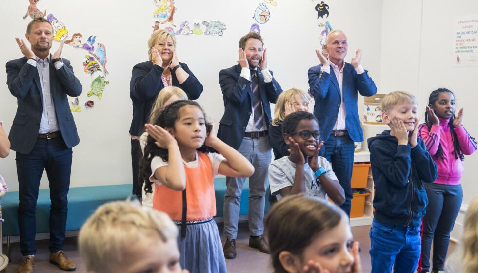 SANG I SKOLEN: Utkastet til den nye læreplanen i norsk som nå er på høring inneholder ikke ordet sang. Foto: Håkon Mosvold Larsen / NTB Scanpix