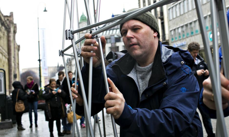 KRITISK: Gamvik-ordfører Trond Einar Olaussen protesterte i forbindelse med kystopprøret i 2014. Nå går han og andre norske Ap-ordførere ut mot politireformen i en egen kampanje. Foto: Anette Karlsen / NTB scanpix
