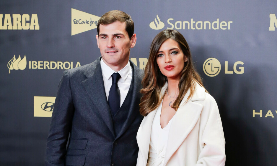 TØFFE DAGER: Bare noen uker etter at Iker Casillas ble lagt inn på sykehus etter et hjerteinfarkt deler kona nyheten om at hun har fått kreft i eggstokkene. Foto: Angel Naval/MARINA PRESS/REX/NTB scanpix