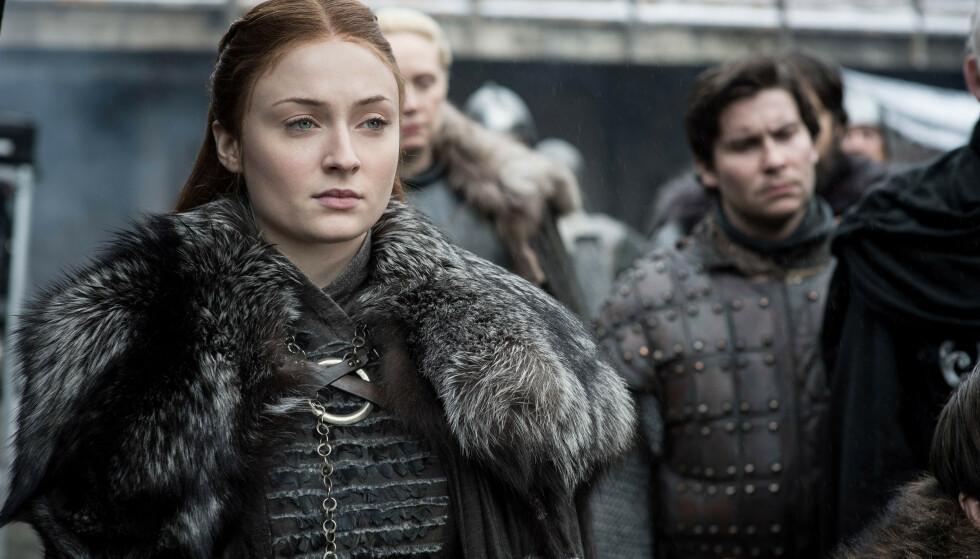 SLÅR TILBAKE: Skuespiller Sophie Turner som Sansa Stark under åttende sesong av Game of Thrones. Foto: HBO/BSkyB/Kobal/REX