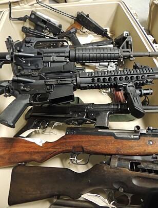 FORSVARET: Flere av våpnene skal ha blitt stjålet fra Forsvaret. Foto: Politiet