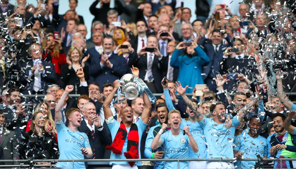 MØTER KRITIKK: Manchester City vant alle hjemlige turneringer denne sesong og får knallhard kritikk av La Liga-sjef Javier Tebas for sin pengeforbruk. Foto: NTB scanpix
