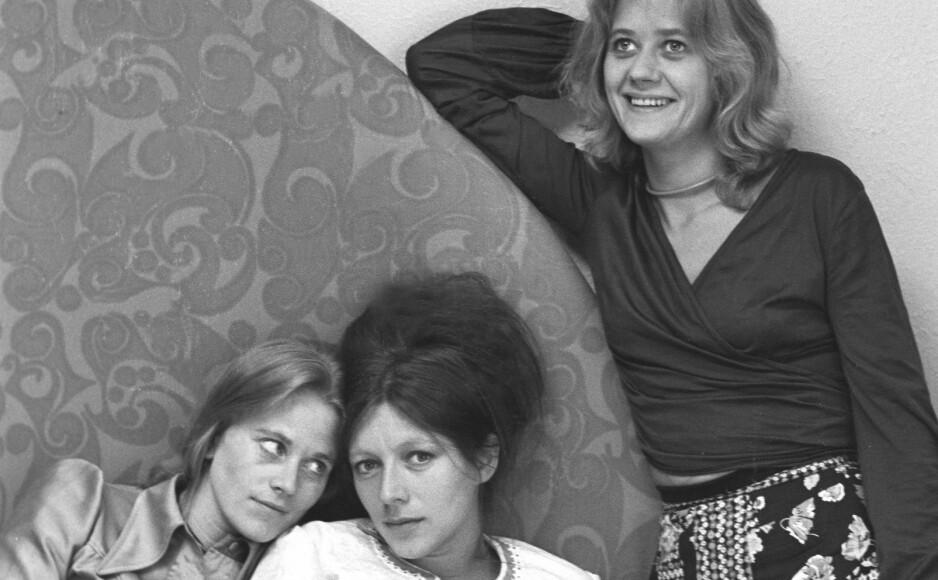 «HUSTRUER» ANNO 1975: Her ser vi Anne Marie Ottesen, Katje Medbø og Frøydis Arman fra den første «Hustruer»-filmen