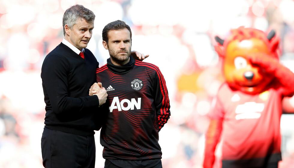 KAN HA SPILT SIN SISTE KAMP: Juan Mata kan forlate Manchester United når kontrakten hans går ut i månedsskiftet. Foto: NTB/Scanpix