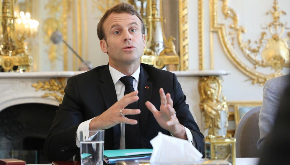 I fare: Frankrikes president, Emmanuel Macron, risikerer tape kampen mot EU-fiendtlige krefter. Foto: Ludovic Marin/Pool / REUTERS / NTB scanpix
