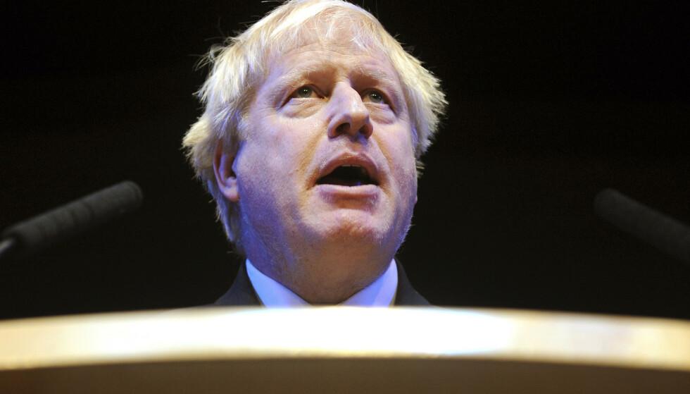 FAVORITT: Boris Johnsen er blant kandidatene til å ta over som statsminister i Storbritannia når Theresa May går av 7. juni. Foto: AP/NTB scanpix