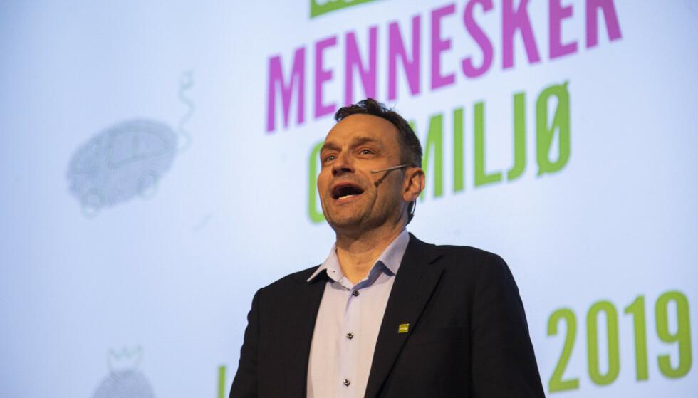 LANDSMØTE: Nasjonal talsperson Arild Hermstad på MDG landsmøte på Fornebu. Foto: Ola Vatn / NTB scanpix