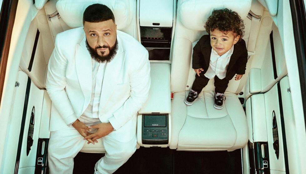 FAR OG SØNN: Albumaktuelle DJ Khaled setter nok en gang rampelyset på sønnen Asahd. Foto: Sony Music