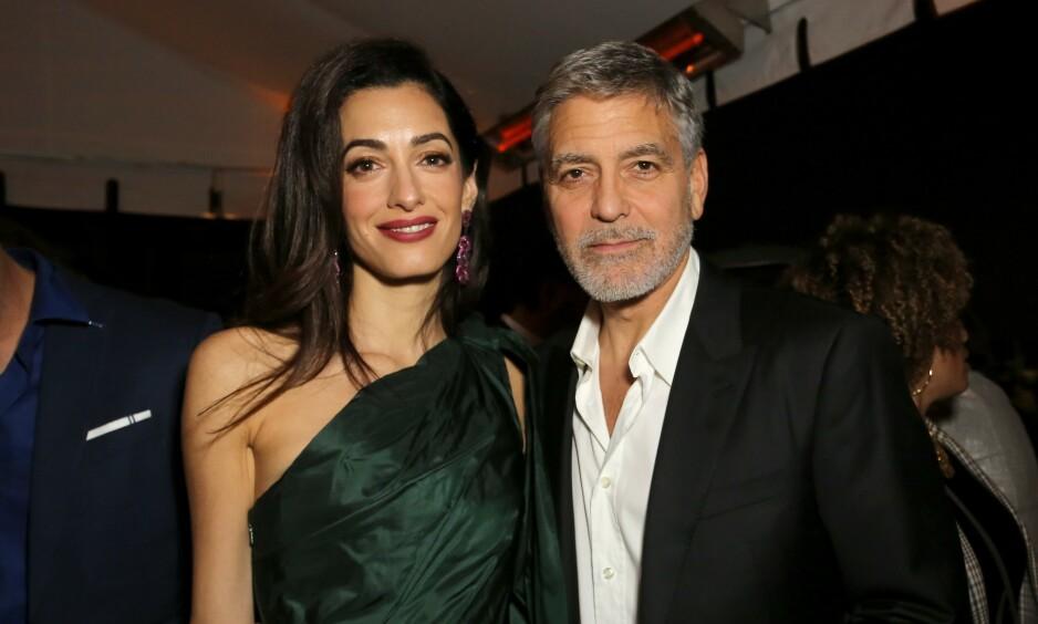 SIKKERHETSUTFORDRINGER: George Clooney forteller om bekymringer rundt familiens sikkerhet, nå som kona Amal Clooney går rettens vei for å holde IS-medlemmer ansvarlige for sine grufulle handlinger. Foto: NTB Scanpix