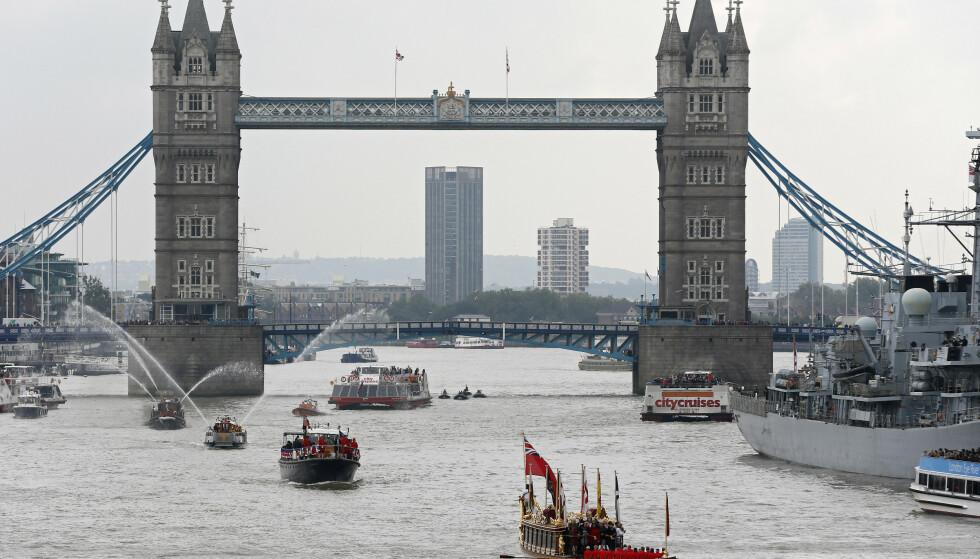 THAMES: Den berømte elva som renner gjennom den britiske hovedstaden har høy forekomst av antibiotika. Foto: Stefan Wermuth / Reuters / NTB Scanpix