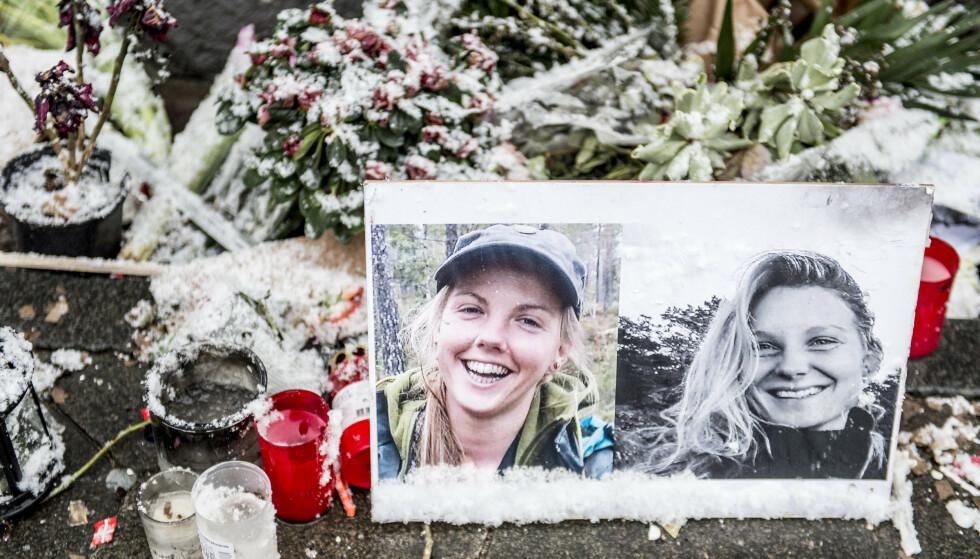 STERKE REAKSJONER: Både i Danmark og Norge var reaksjonene sterke etter at Maren Ueland (28) og Louisa Vesterager Jespersen (24) ble drept før jul. Her fra København. Foto: Mads Claus Rasmussen / Ritzau / NTB Scanpix