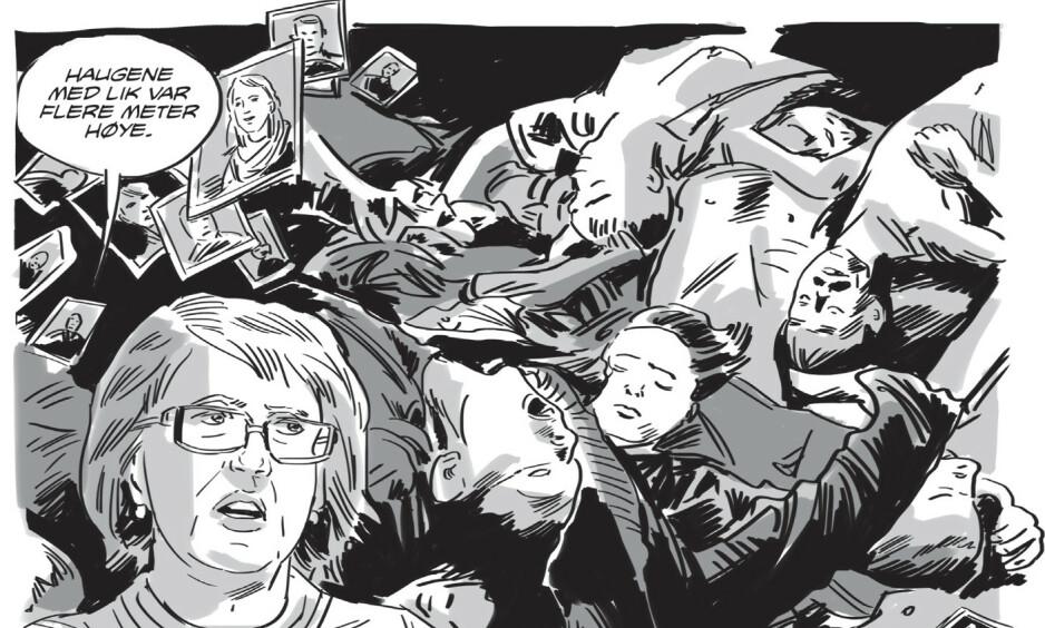DOKUMENTARISK: Fedor Sapegins nye tegneseriebok er en reportasje fra Ukraina. Utsnitt fra boka