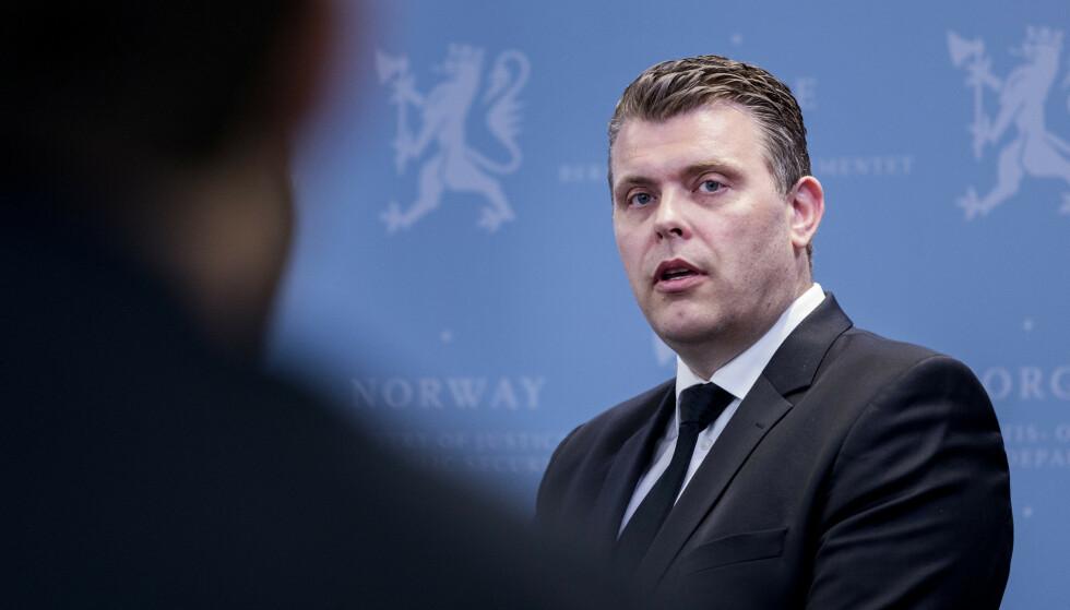 JUSTISMINISTER: Jøran Kallmyr sin au pair måtte forlate Norge 10. mai, ifølge Aftenposten. Foto: Gorm Kallestad / NTB scanpix