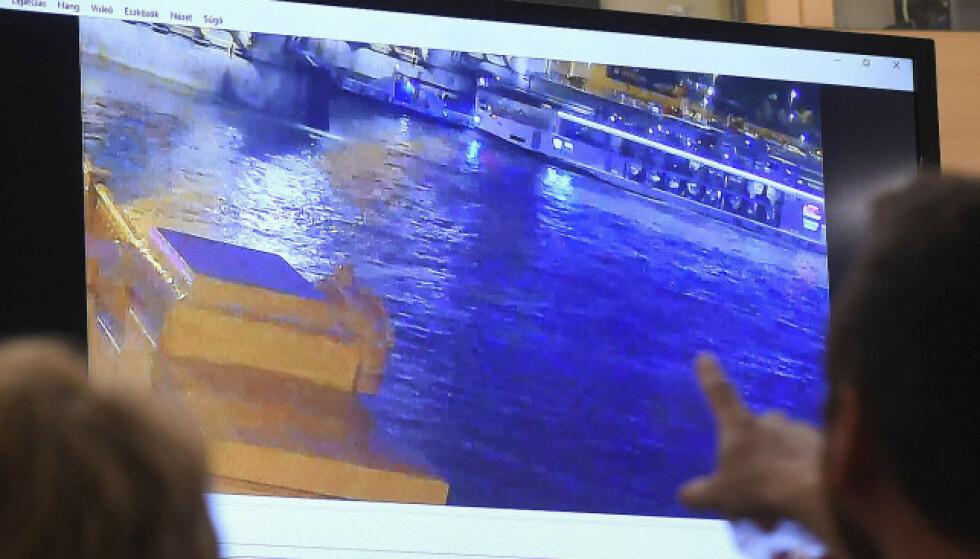 SEKUNDENE FØR: Dette bildet skal vise sekundene før sammenstøtet mellom cruiseskipet og turitsbåten. Foto: AP