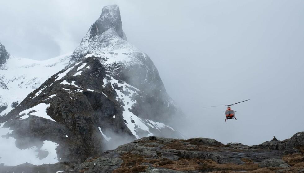 ROMSDALSHORNET: Et karakteristisk og kjent fjell i Rauma. Foto: Svein Ivarsen / Relevant Film