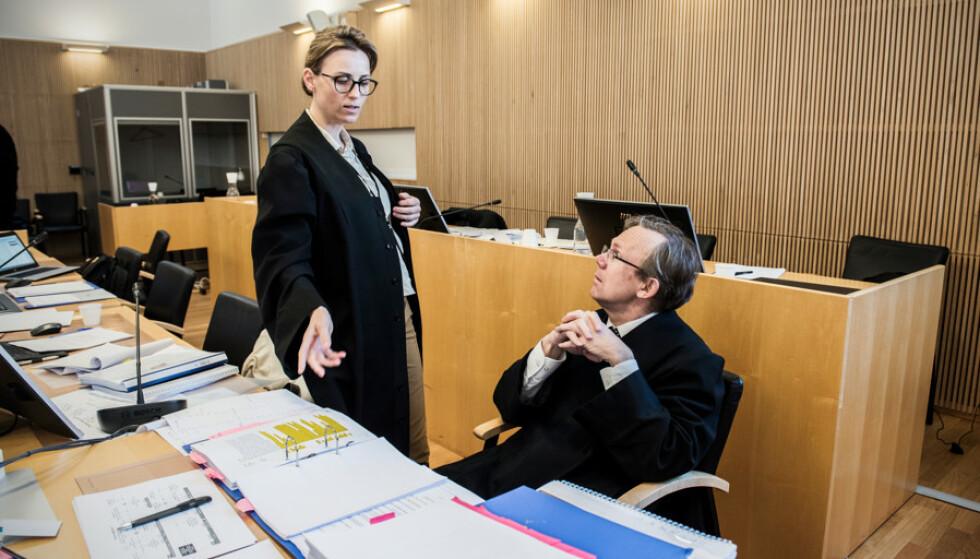 <strong>AKTORATET:</strong> Politiadvokat Ragnhild Helgesen og statsadvokat Leif Aleksandersen første saken for påtalemakten. Foto: Ralf Lofstad / Dagbladet