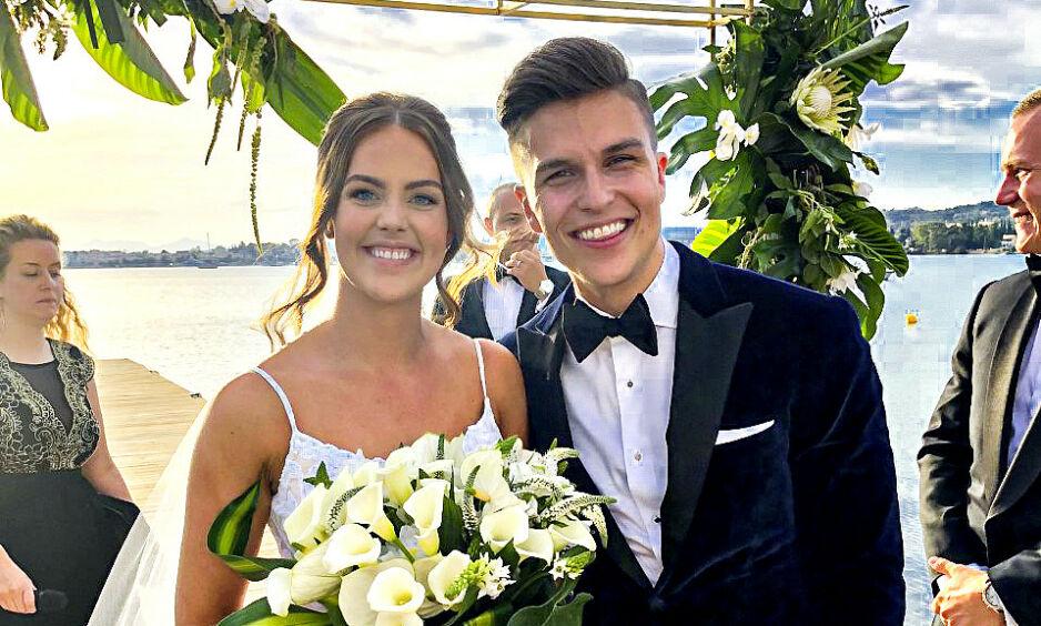 GIFT: Atle Pettersen og Cathrine Eide er blitt mann og kone. Foto: Lars Gautneb / Se og Hør