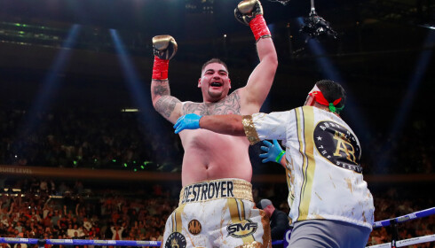 NY TUNGTVEKTSMESTER: Andy Ruiz. Foto: Action Images via Reuters/Andrew Couldridge