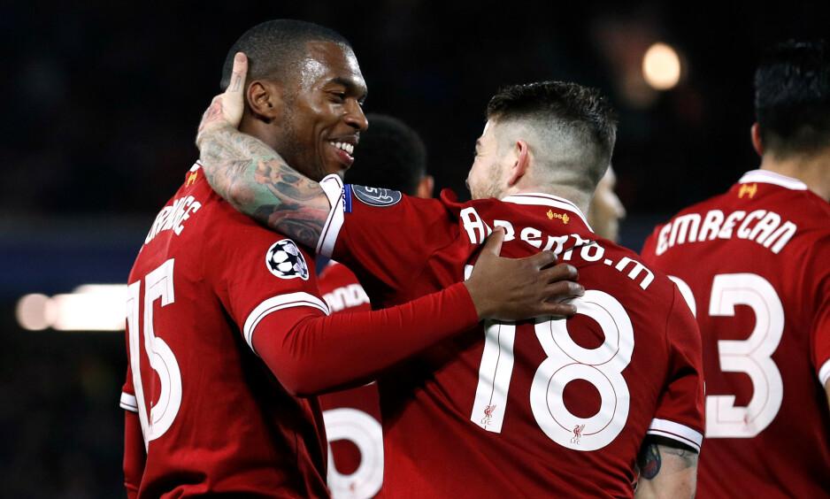 FERDIGE: Daniel Sturridge og Alberto Moreno er ferdig i Liverpool. Foto: REUTERS / Phil Noble / NTB Scanpix