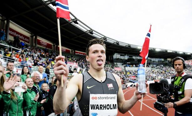 <strong>TILBAKE PÅ BISLETT:</strong> Karsten Warholms eventyrsesong i 2017 startet på Bislett med seier. Torsdag er han tilbake. Foto: John T.Pedersen / Dagbladet