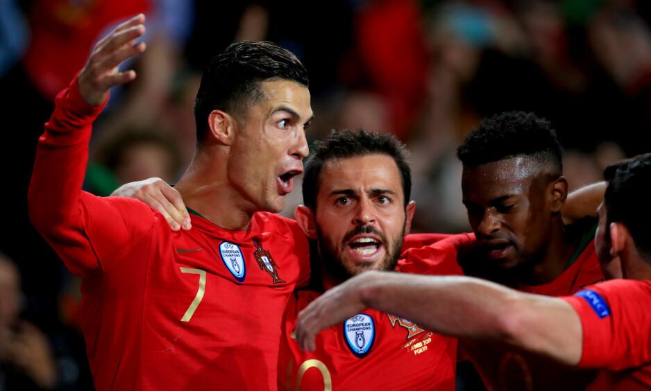SCORET HAT TRICK: Cristiano Ronaldo. Foto: Mike Egerton / Pa Photos / NTB Scanpix