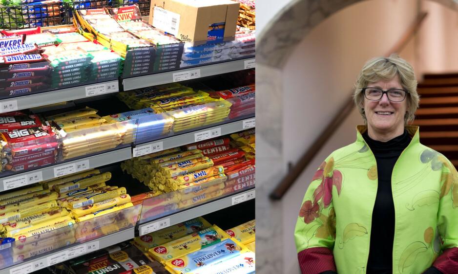 GENERISK: Den britiske direktøren for helse, Dame Sally Davies, foreslår å innføre anonym innpakking på godteri og sjokolade, slik det har blitt gjort med tobakk. Foto: Elisabeth Dalseg / NTB Scanpix