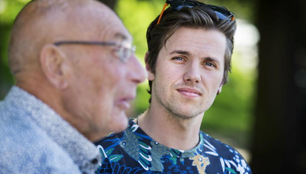 SYKDOM: Samuel Massie og bestefaren Arne Ulvolden må utsette reisen inntil videre, som følge av at Massie sliter med sykdom. Foto: Henning Lillegård / Dagbladet