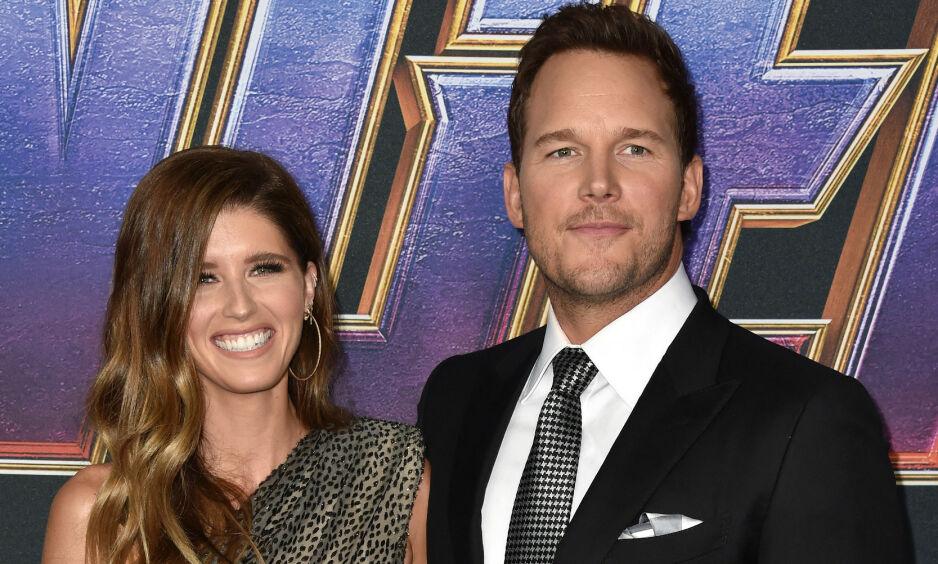 GIFTET SEG: Et år etter at det først oppsto ramanserykter mellom Chris Pratt og Katherine Schwarzenegger, er de nå gift. Foto: NTB Scanpix