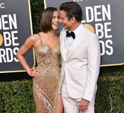 PENT PAR: Irina Shayk og Bradley Cooper i hyggelig lag under Golden Globe Awards i januar. Foto: NTB Scanpix