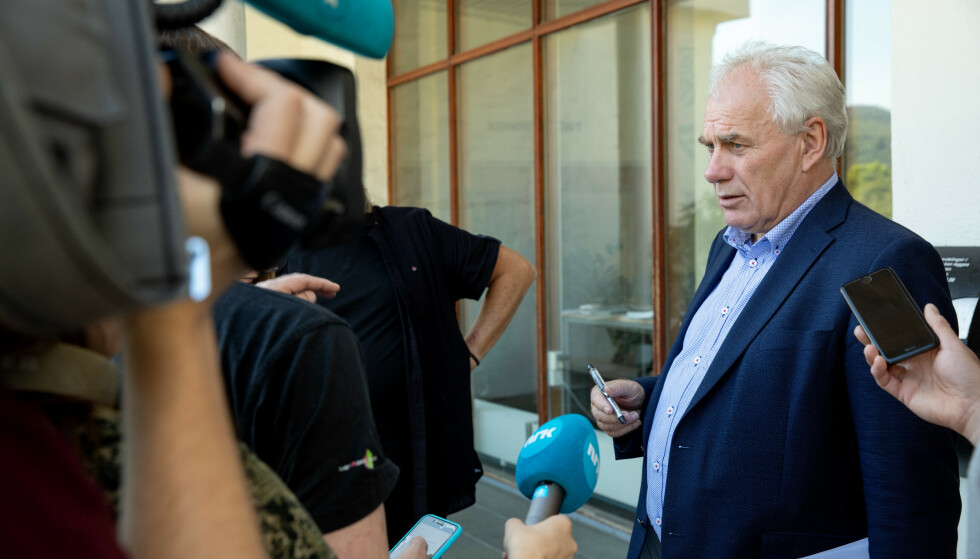 VARAORDFØRER: Varaordfører Bård Espelid da han orienterte pressen i går. Foto: Eivind Senneset, Dagbladet