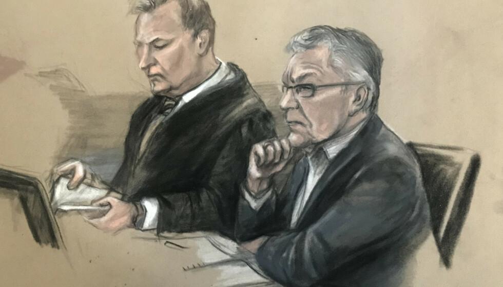 I RETTEN: Svein Ludvigsen skal forklare seg om anklagene fra de fornærmede i morgen. Tegning: Ane Hem / NTB scanpix