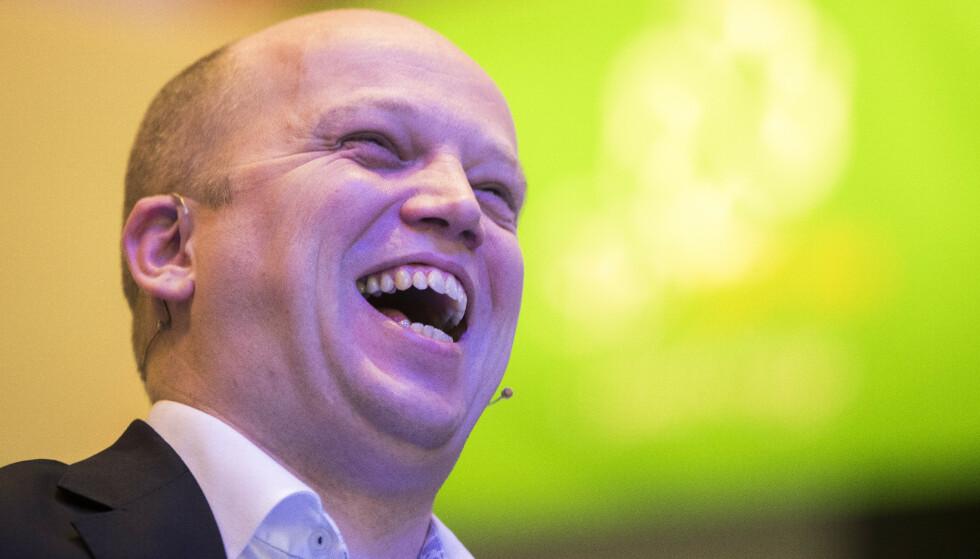 KAN JUBLE: Senterpartiets leder Trygve Slagsvold Vedum. Foto: Terje Pedersen / NTB scanpix