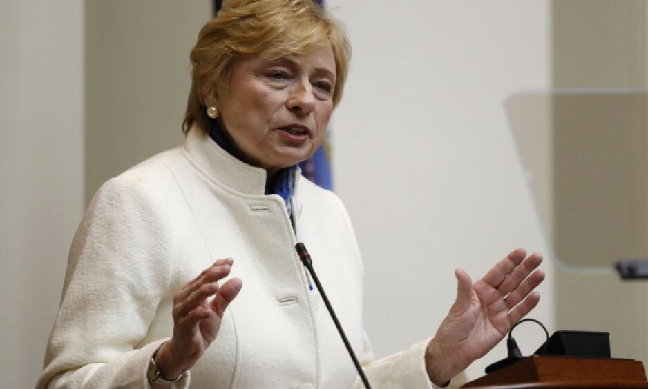 GUVERNØR: Janet Mills vil gjøre abort mer tilgjengelig i delstaten. Foto: Robert F. Bukaty / AP / NTB Scanpix