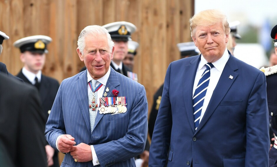 BESØK: Prins Charles av Wales og president Donald Trump avbildet under Trumps nylige statsbesøk i Storbritannia. Foto: Rex / Shutterstock / NTB Scanpix