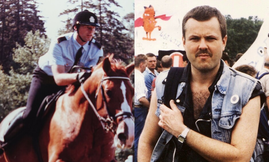 I UTRYGGHET: Bård Stensli (til venstre) holdt legningen sin skjult for kollegene i politiet i flere år. Svein Skeid (til høyre) forteller at han gråt da politiet ba om unnskyldning for trakasseringen av homofile på 80- og 90-tallet. - Det er mye følelser fordi jeg selv har opplevd det, sier han. Foto: Privat