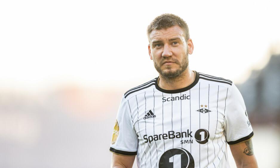 UTENFOR TROPPEN: Nicklas Bendtner har ikke vært på banen for Rosenborg siden 28. april. Foto: Ole Martin Wold / NTB scanpix
