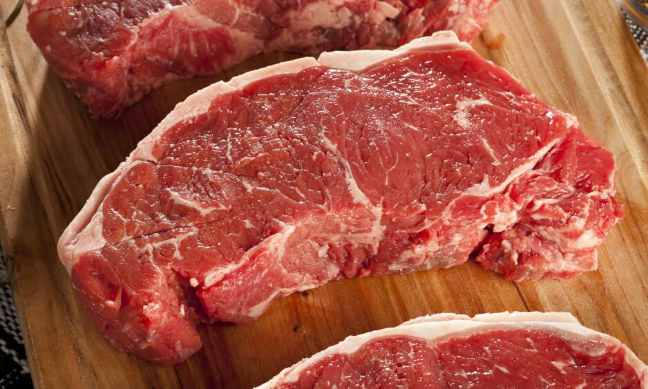 TAKK OG FARVEL? Ifølge en ny rapport vil bare 40 prosent av kjøtt på middagstallerknene i 2040 komme fra dyr. Foto: NTB Scanpix