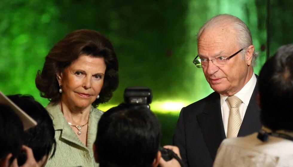 <strong>I SORG:</strong> Dronning Silvia og kong Carl Gustaf har mistet sin nære venninne Anki Wallenberg. Hun døde i en båtulykke i Sveits i helga. Foto: NTB scanpix